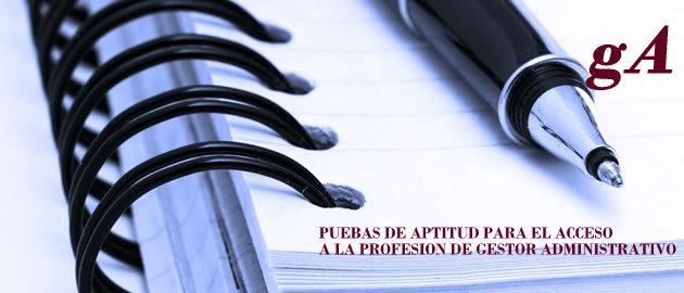 pruebas acceso profesion gestor